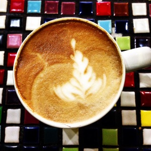 Latte at True Grounds