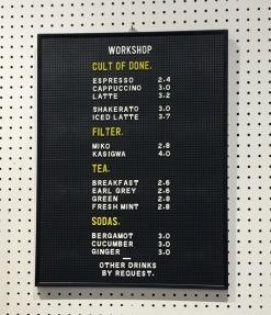 workshop menu